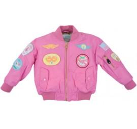 Fliegerjacke für Kinder Pink