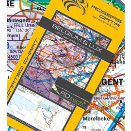 Sichtflugkarte Belgien & Luxemburg 2020 - Rogers Data