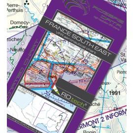 Sichtflugkarte Frankreich Süd-Ost 2020 - Rogers Data